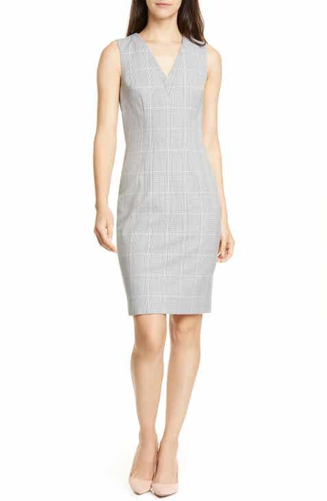 Ted Baker London Avriild Check V-Neck Sheath Dress