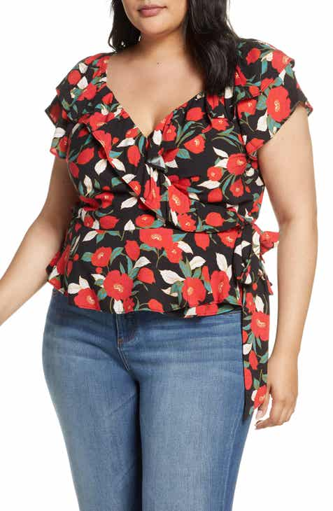 d5bc68ad3102 Gibson x Hot Summer Nights Two Peas Ruffle Wrap Top (Plus Size) (Nordstrom  Exclusive)