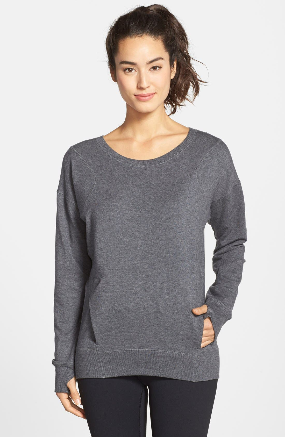 'Amore' Pullover,                         Main,                         color, Grey Charcoal Heather