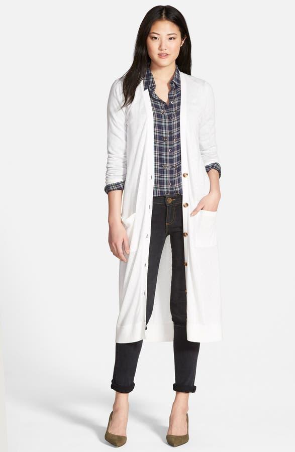 Halogen® Cotton Blend Duster Cardigan (Regular & Petite) | Nordstrom