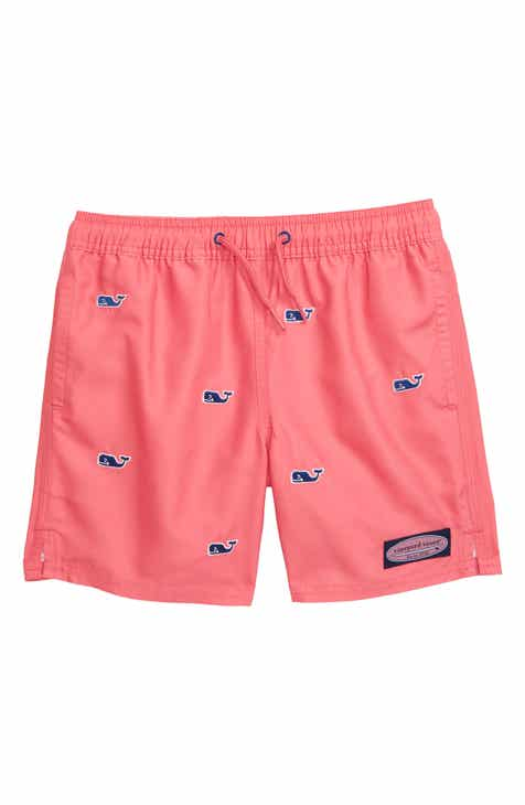 bb6cf0d7a4 vineyard vines Embroidered Whale Chappy Swim Trunks (Toddler Boys & Little  Boys)