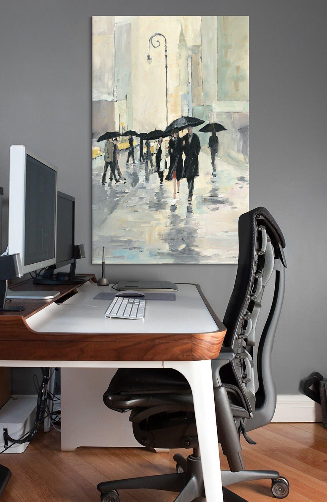 Alternate Image 2  - iCanvas 'City in the Rain - Avery Tillmon' Giclée Print Canvas Art