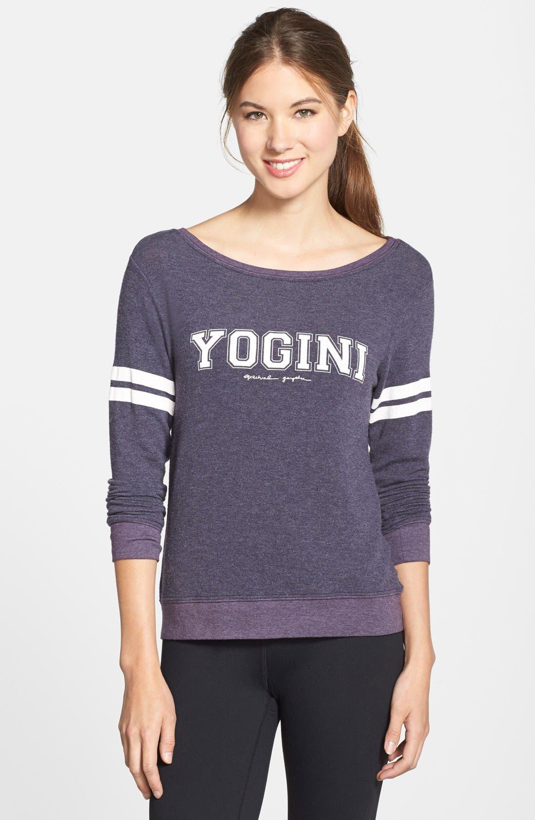 Main Image - Spiritual Gangster 'Yogini' Boatneck Sweatshirt