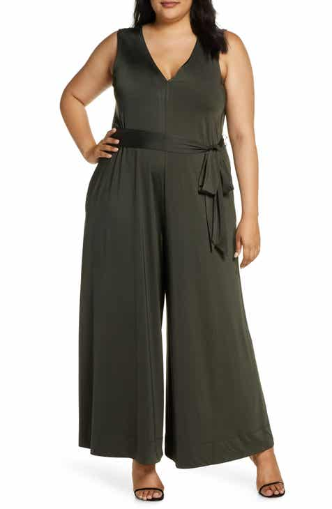Coldesina Abi Sleeveless Wide Leg Jumpsuit (Plus Size)