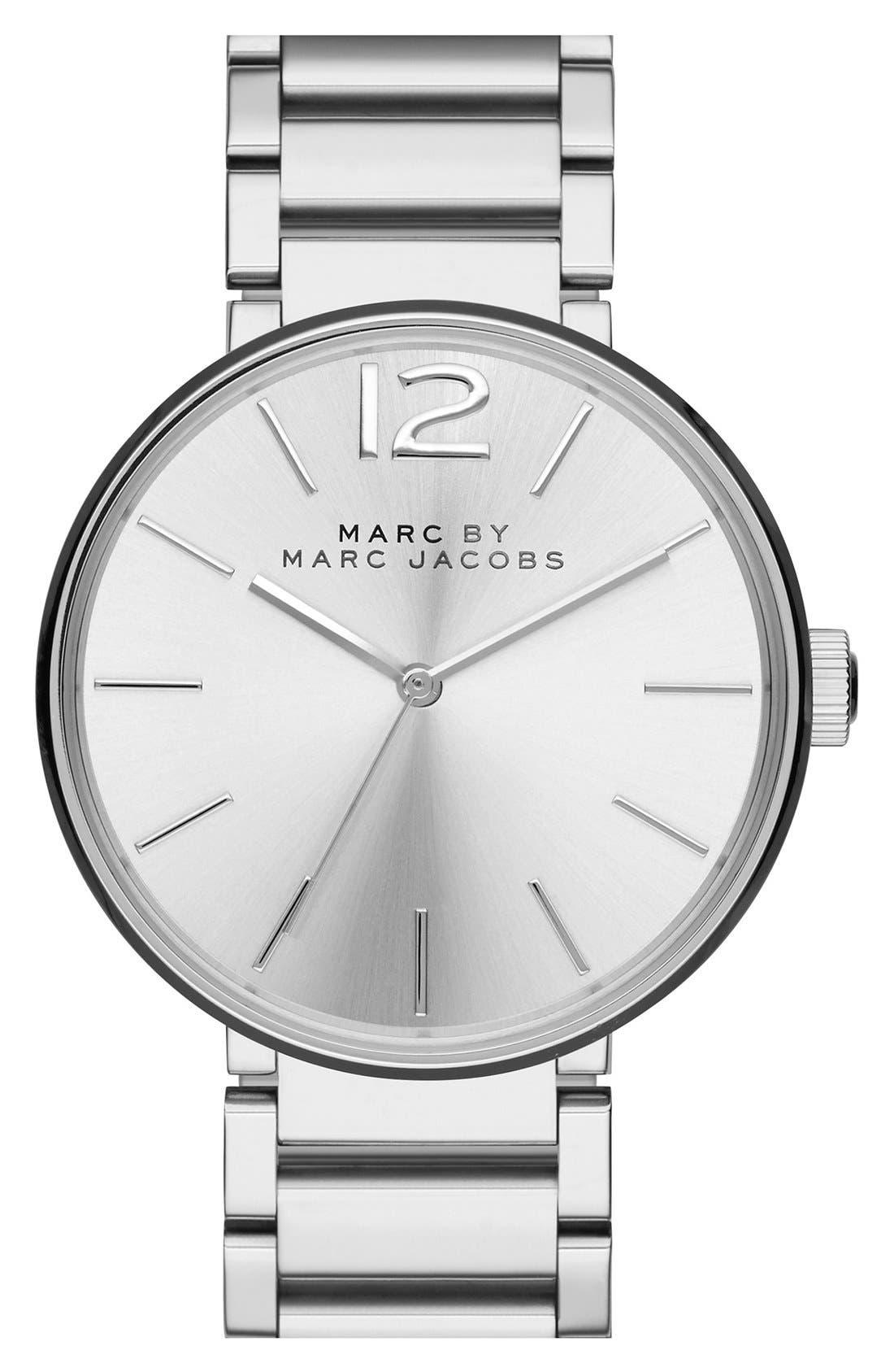 'Peggy' Bracelet Watch, 36mm,                         Main,                         color, Silver