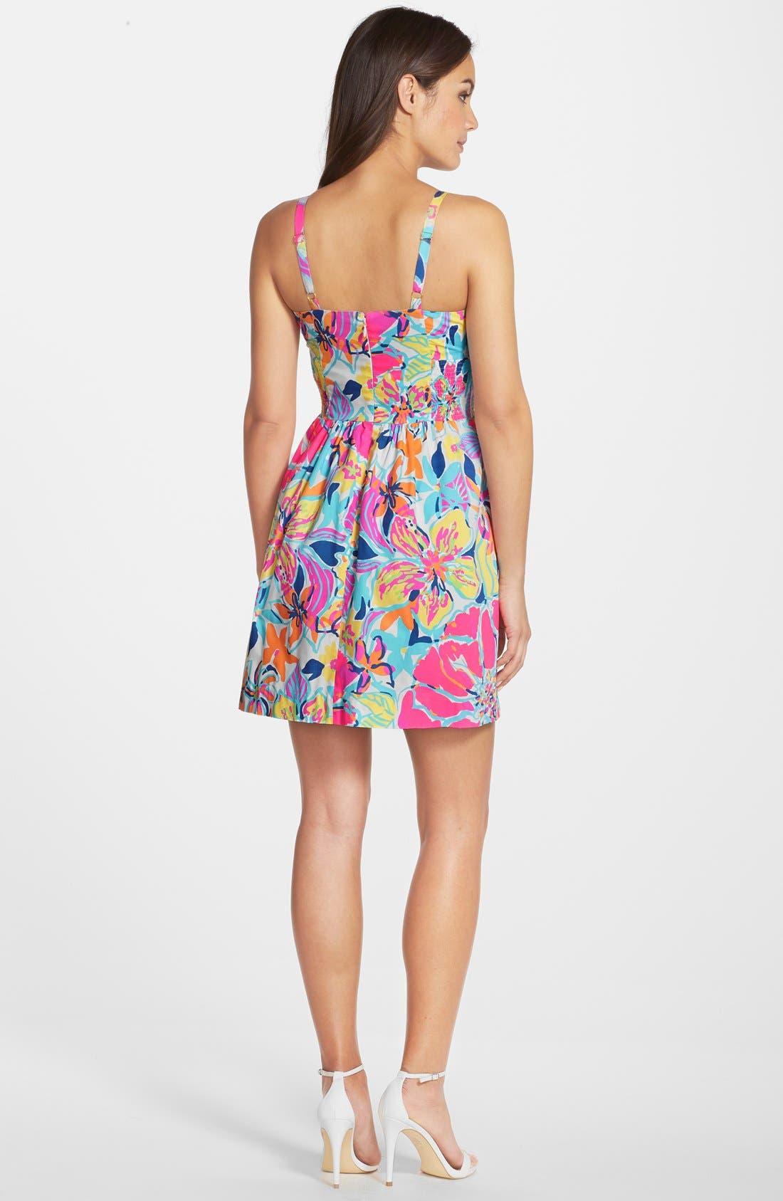 Alternate Image 2  - Lilly Pulitzer® 'Christine' Print Poplin Fit & Flare Dress