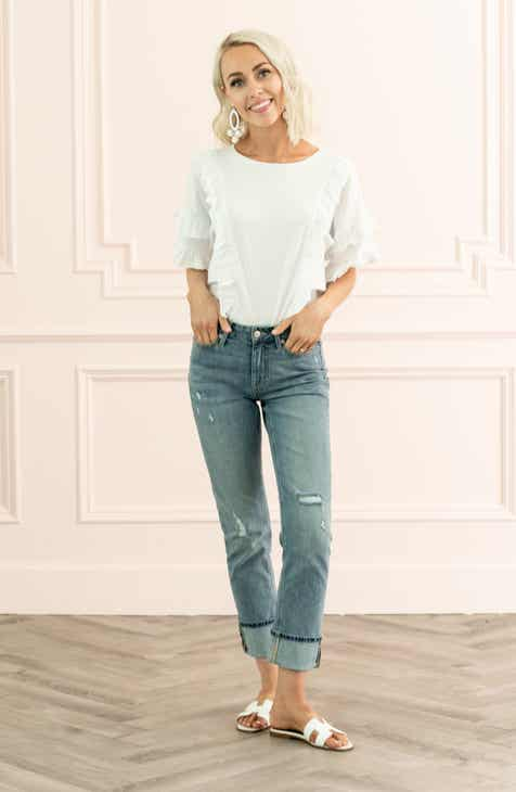 88b7b6332 Rachel Parcell High Waist Girlfriend Jeans (Vintage) (Nordstrom Exclusive)