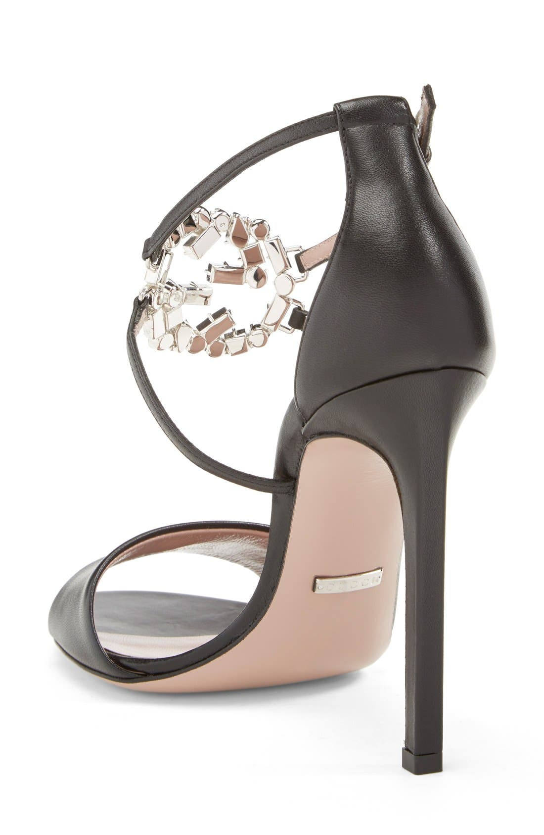 Alternate Image 2  - Gucci 'GG' Logo Ankle Strap Sandal (Women)