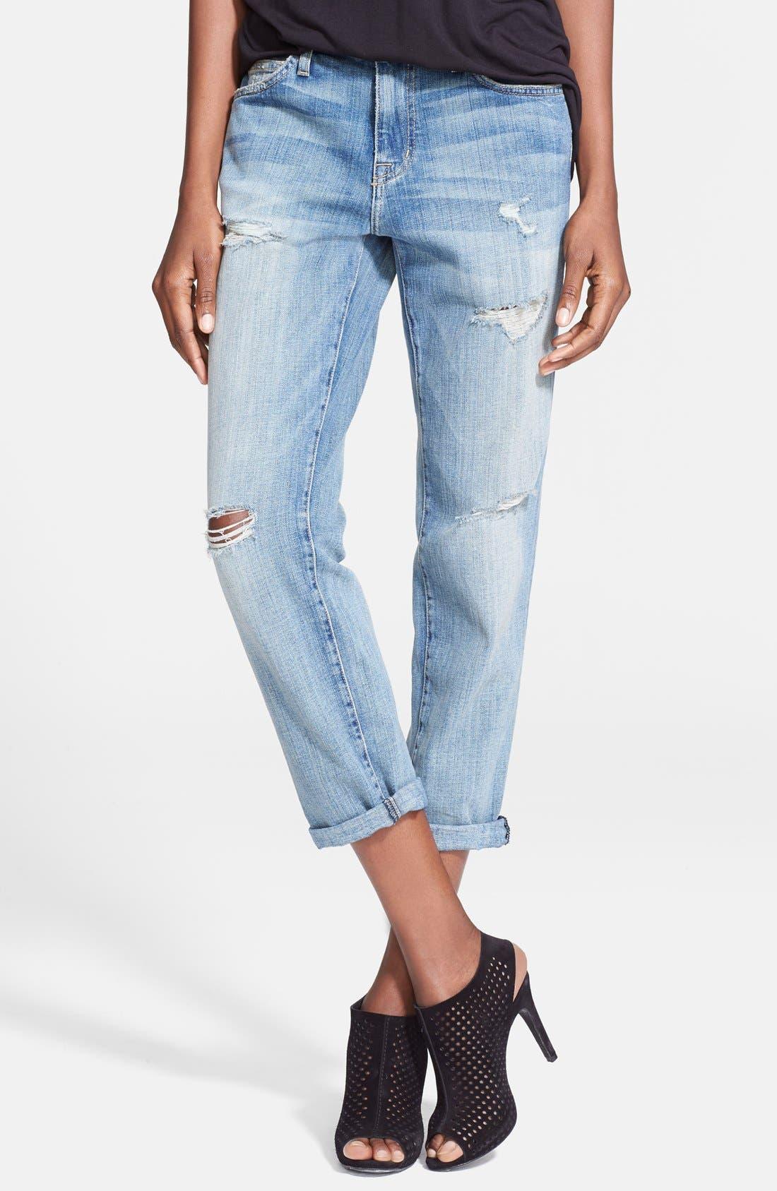 'The Fling' Boyfriend Jeans,                         Main,                         color, Super Loved Destroy