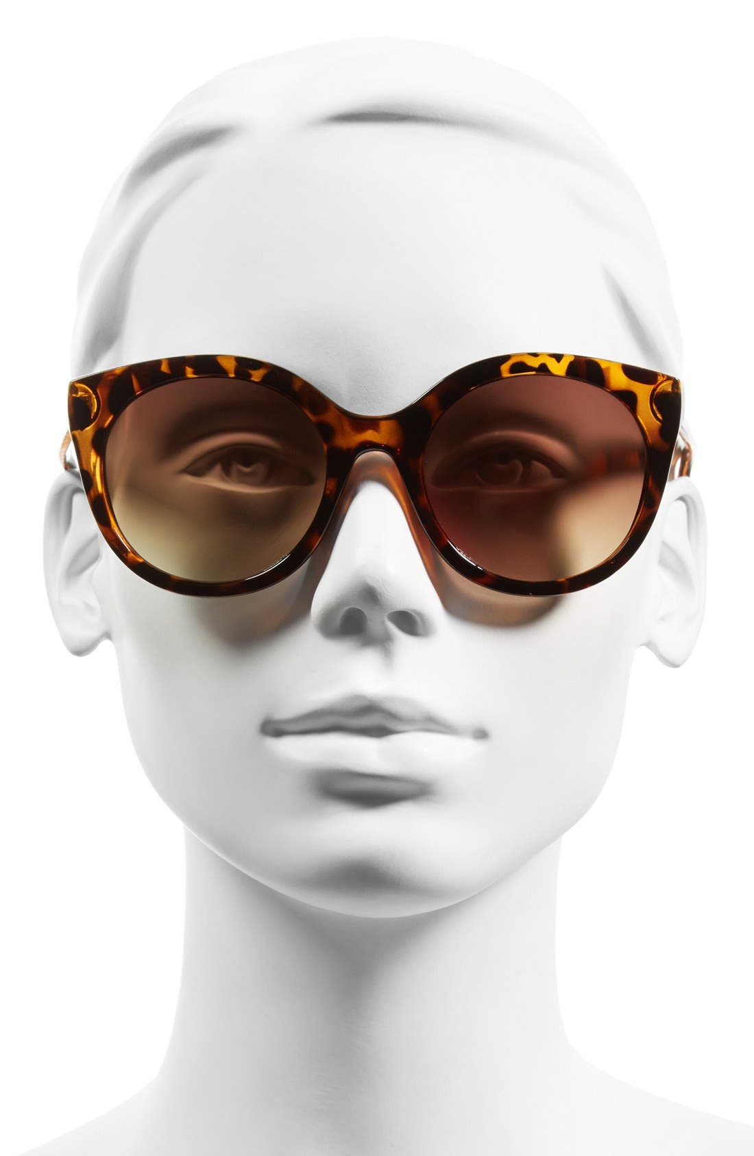 60mm Retro Sunglasses,                             Alternate thumbnail 2, color,                             Tort