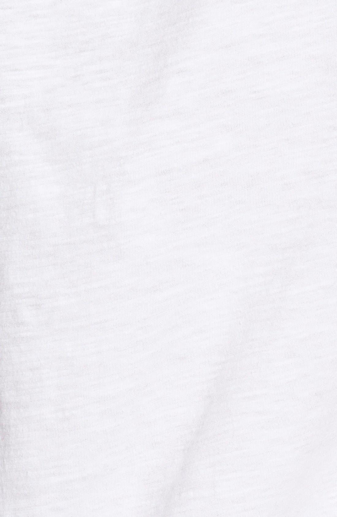 Organic Cotton Jersey Tank,                             Alternate thumbnail 3, color,                             White