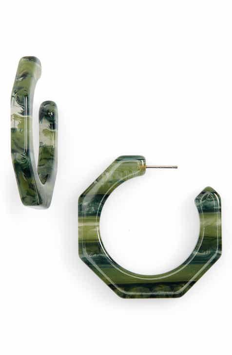 Madewell Resin Octagonal Hoop Earrings