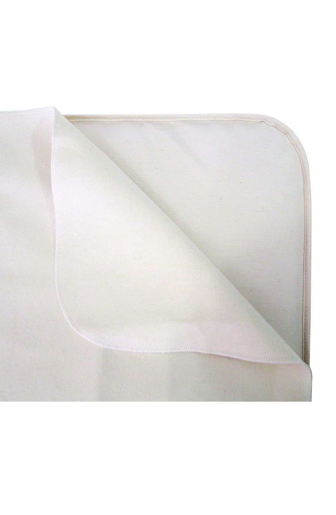 Organic Cotton Waterproof Flat Crib Protector Pad,                         Main,                         color, Natural