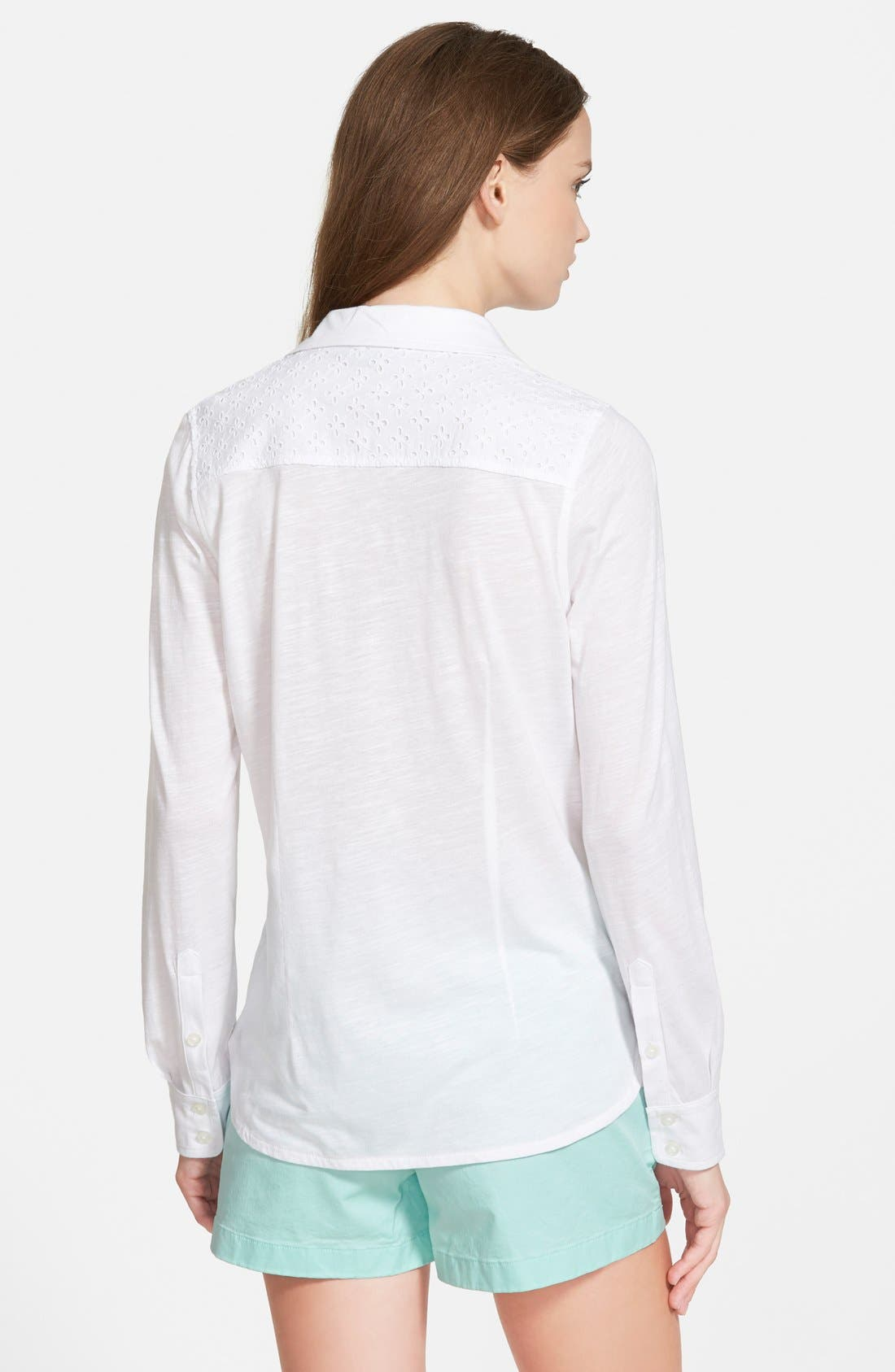 Alternate Image 2  - Vineyard Vines Eyelet Yoke Top