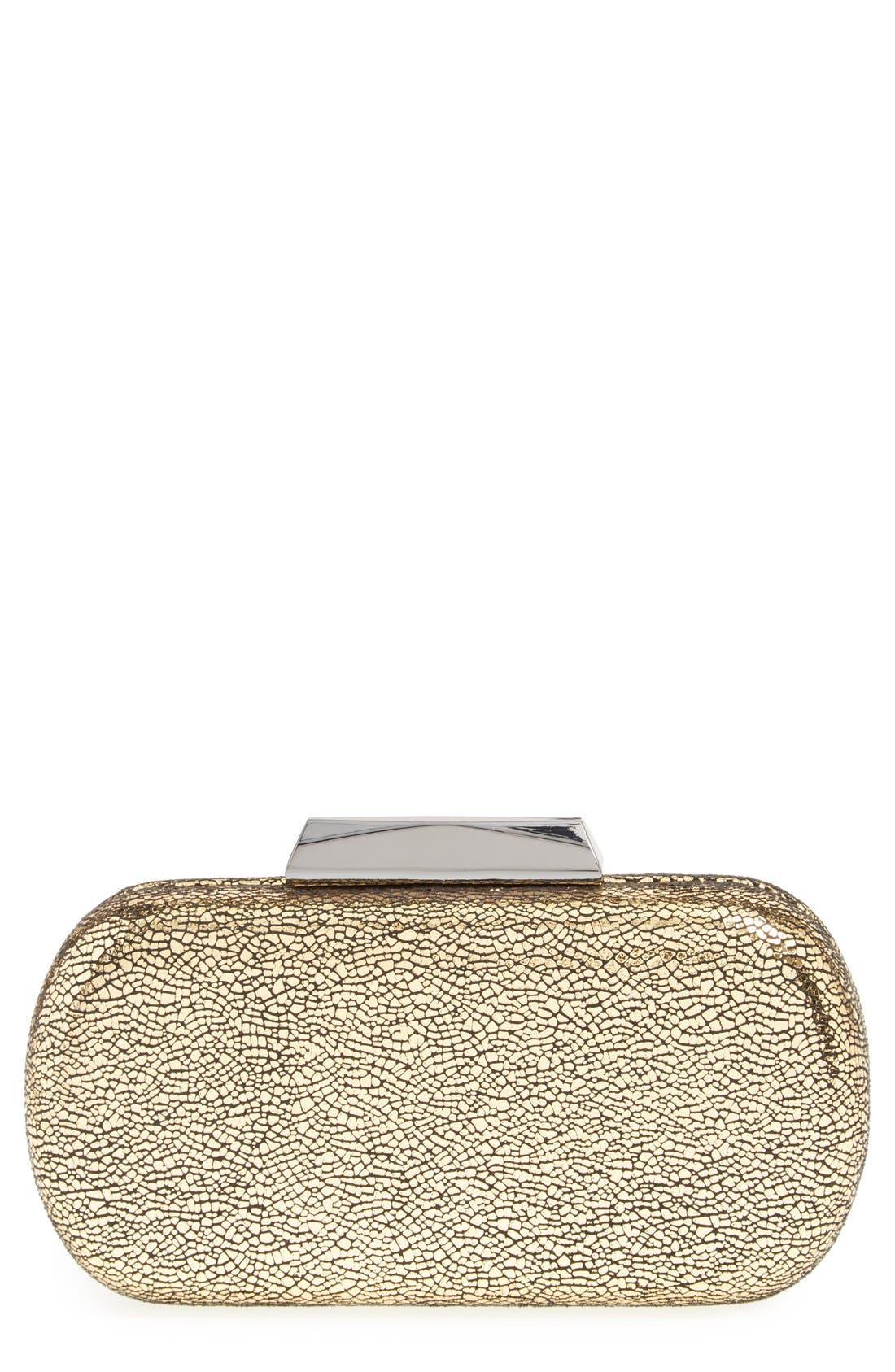 Main Image - Glint Metallic Crackle Minaudiere