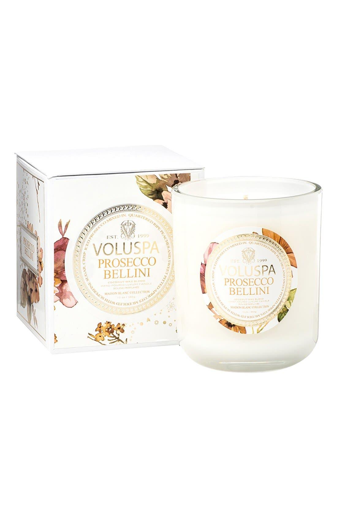 Main Image - Voluspa Maison Blanc Prosecco Bellini Classic Boxed Candle