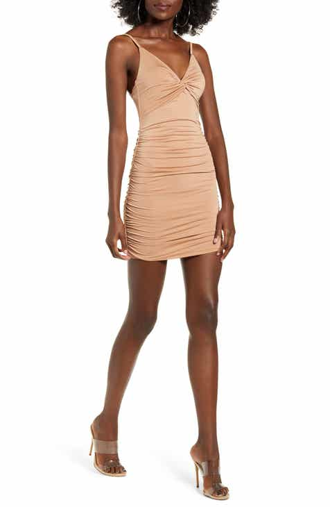 Tiger Mist Gabby Ruched Body-Con Minidress