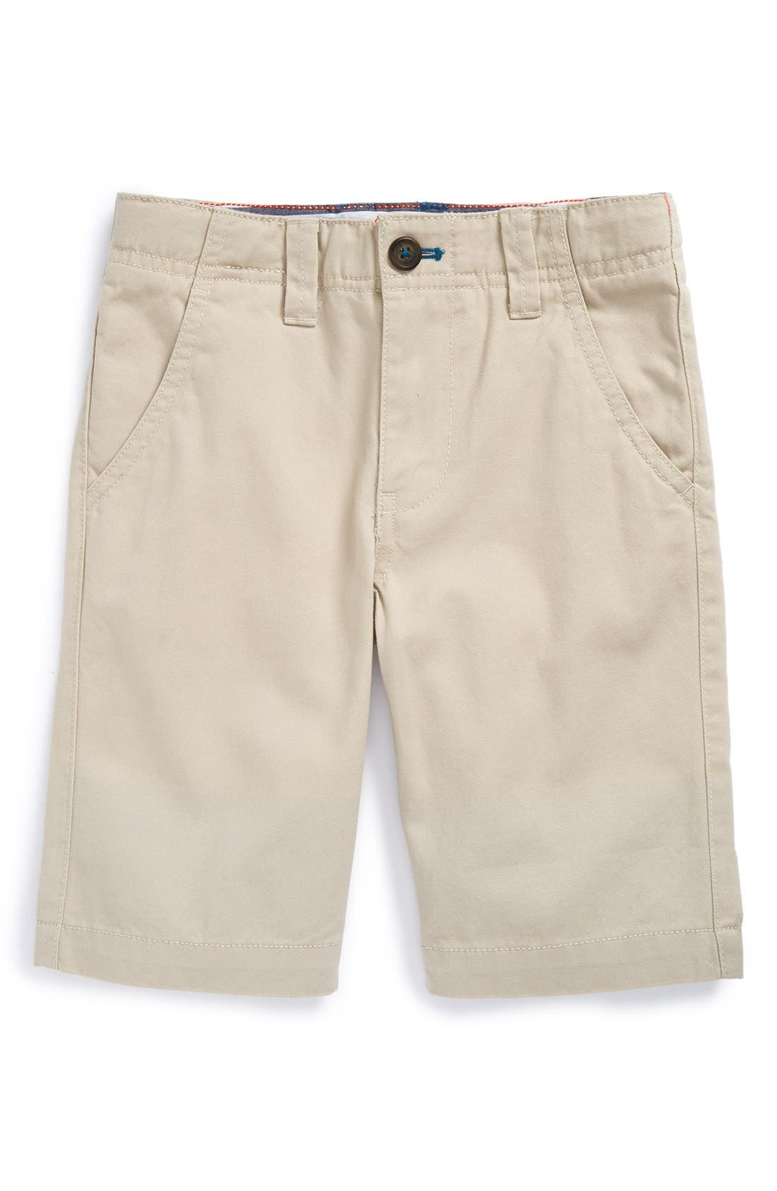 Main Image - Mini Boden Cotton Chino Shorts (Toddler Boys, Little Boys & Big Boys)