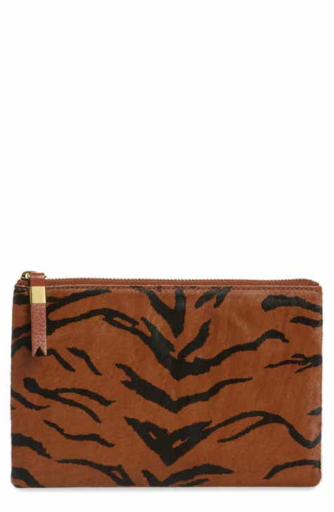 Madewell The Leather Pouch Clutch in Genuine Calf Hair