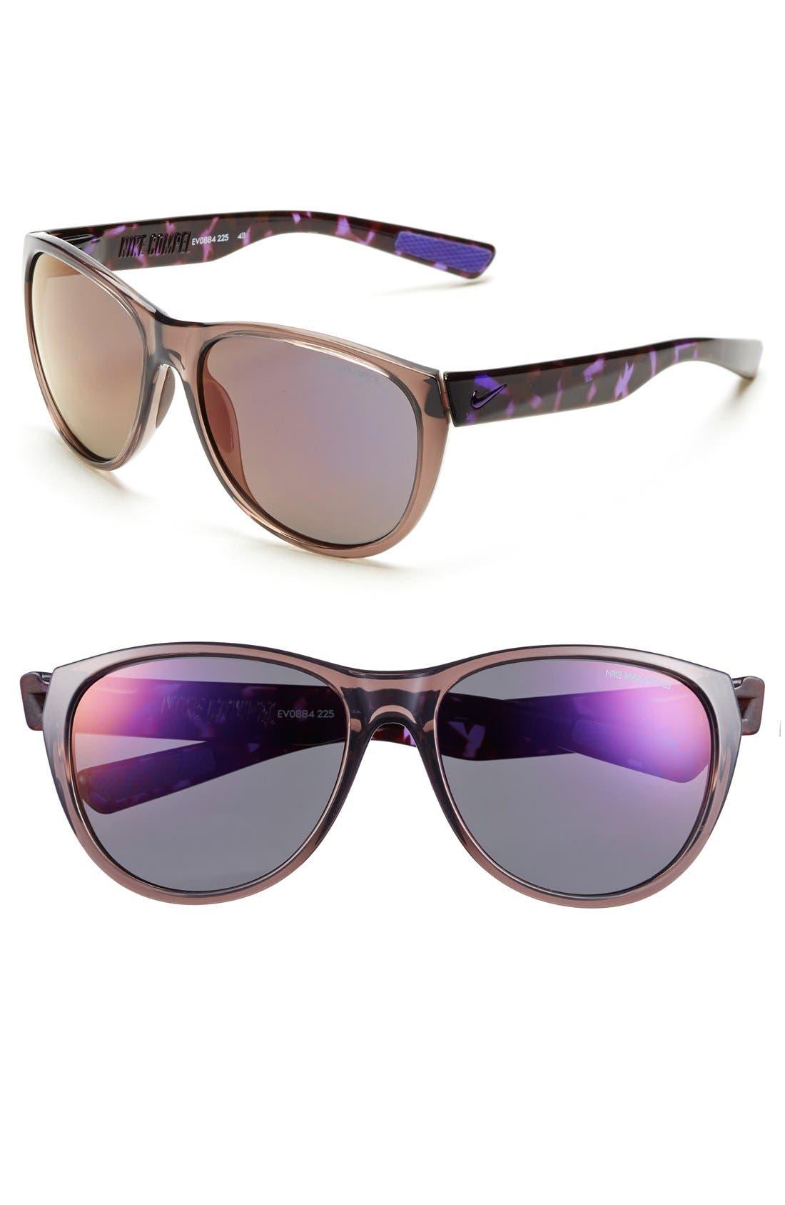 'Compel' 58mm Sunglasses,                         Main,                         color, Crystal Violet/ Grape Tortoise