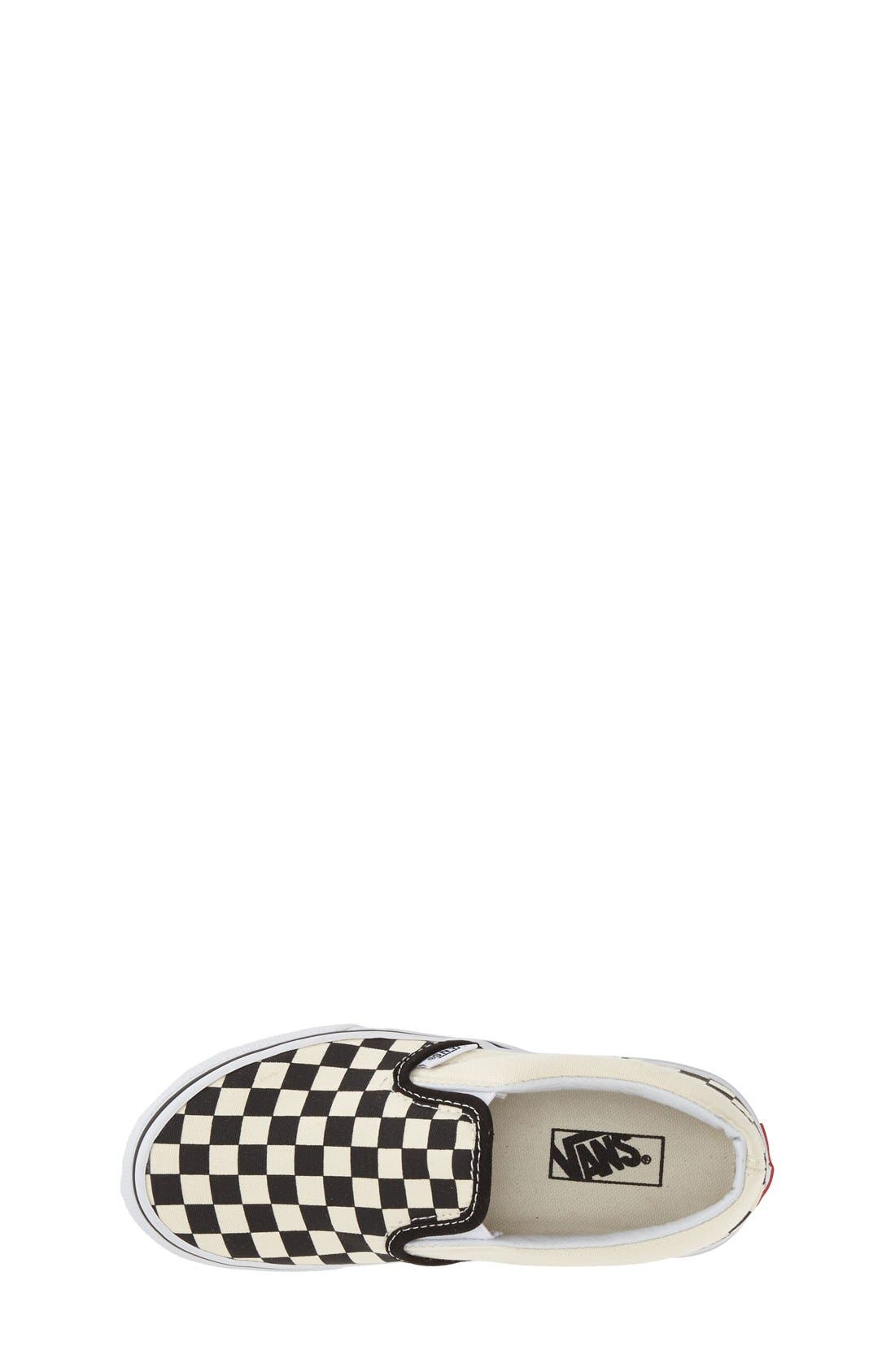 'Classic - Checker' Slip-On,                             Alternate thumbnail 3, color,                             Checkerboard/ Black/ White