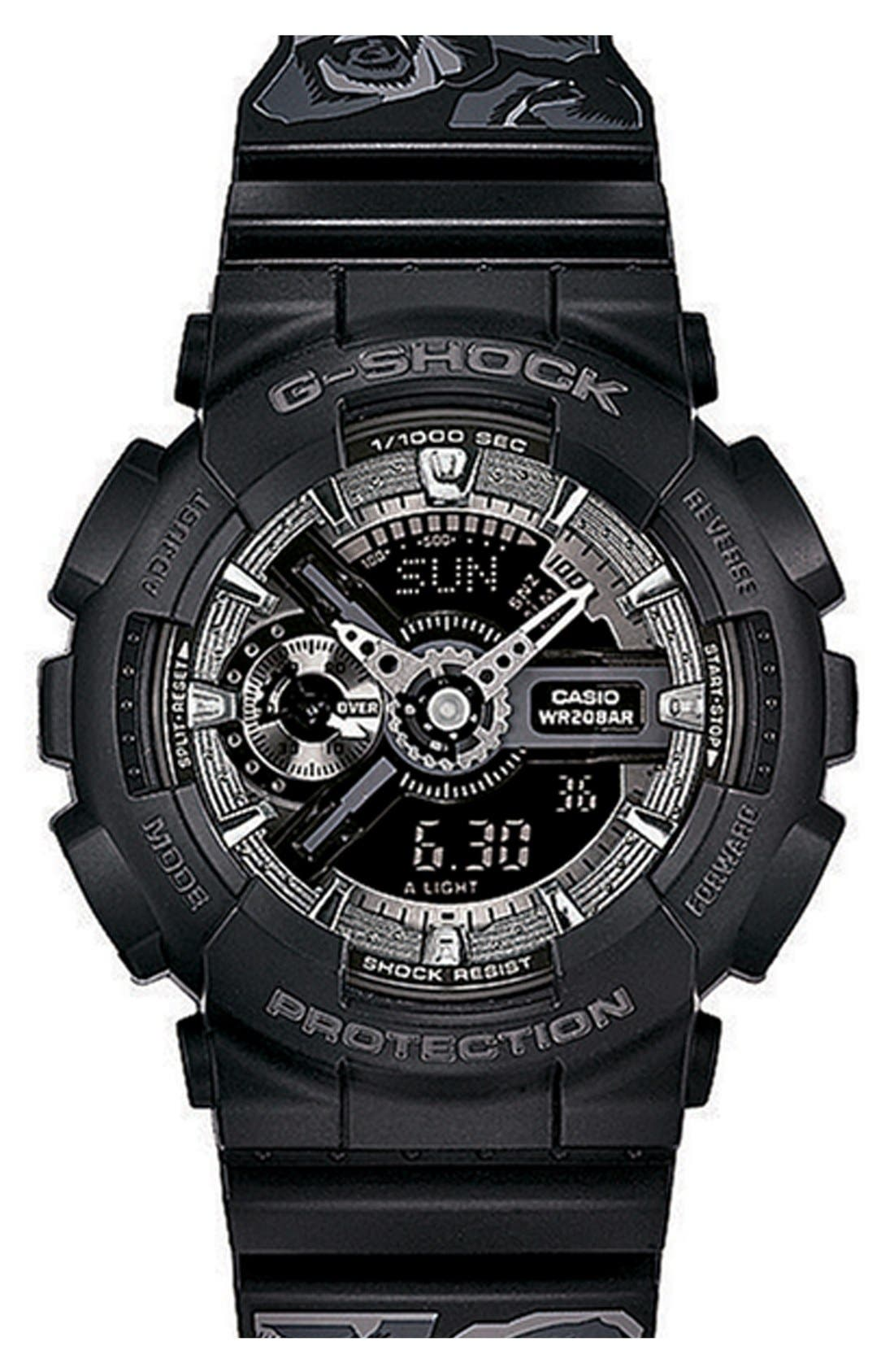 Main Image - G-Shock 'S-Series' Floral Band Resin Ana-Digi Watch, 49mm