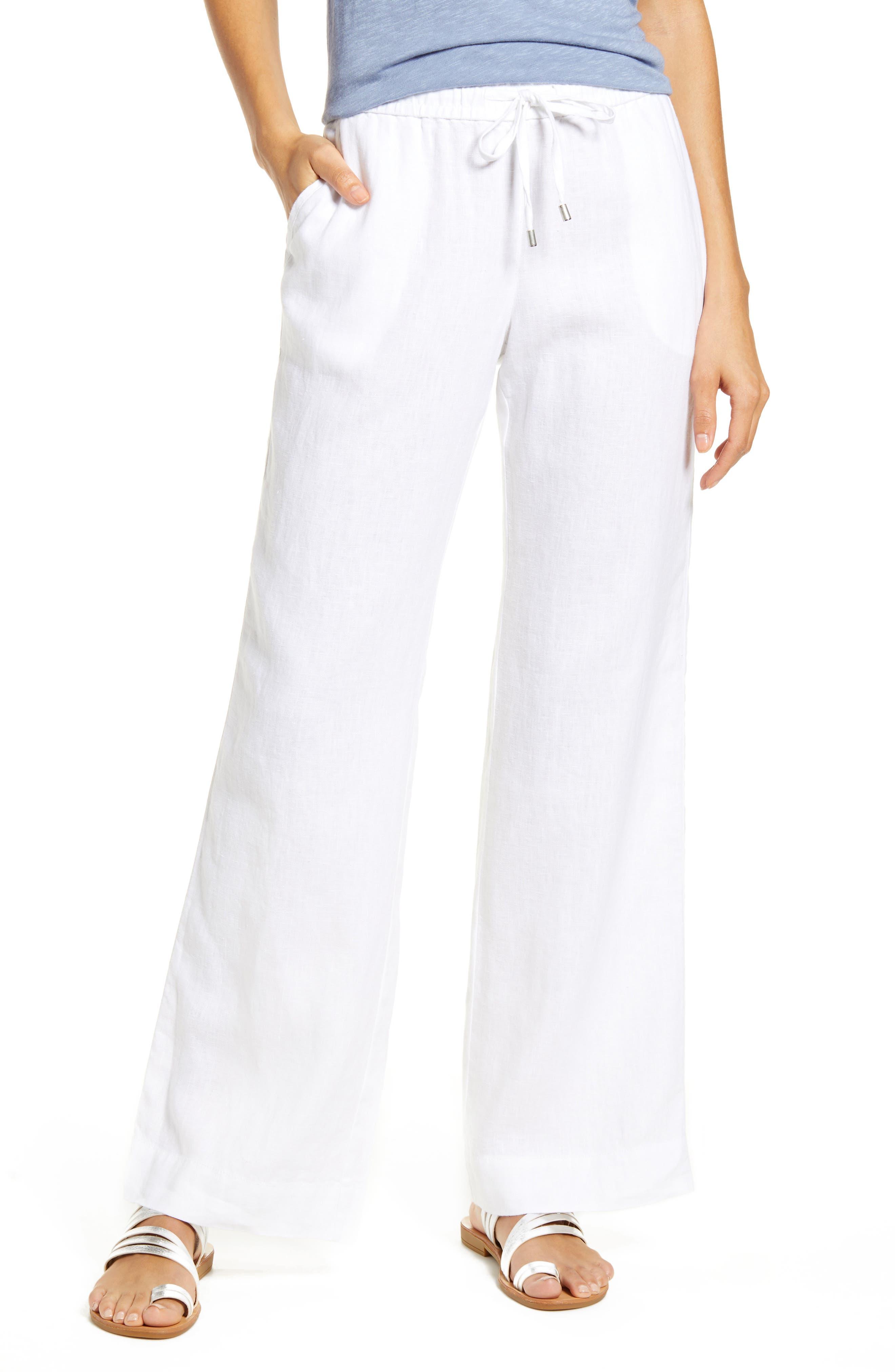 Women's 100% Linen Pants & Leggings   Nordstrom