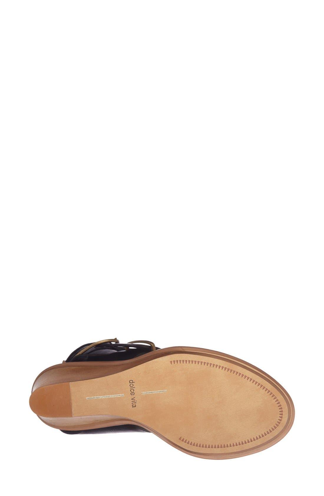 'Julissa' Wedge Sandal,                             Alternate thumbnail 2, color,                             Black