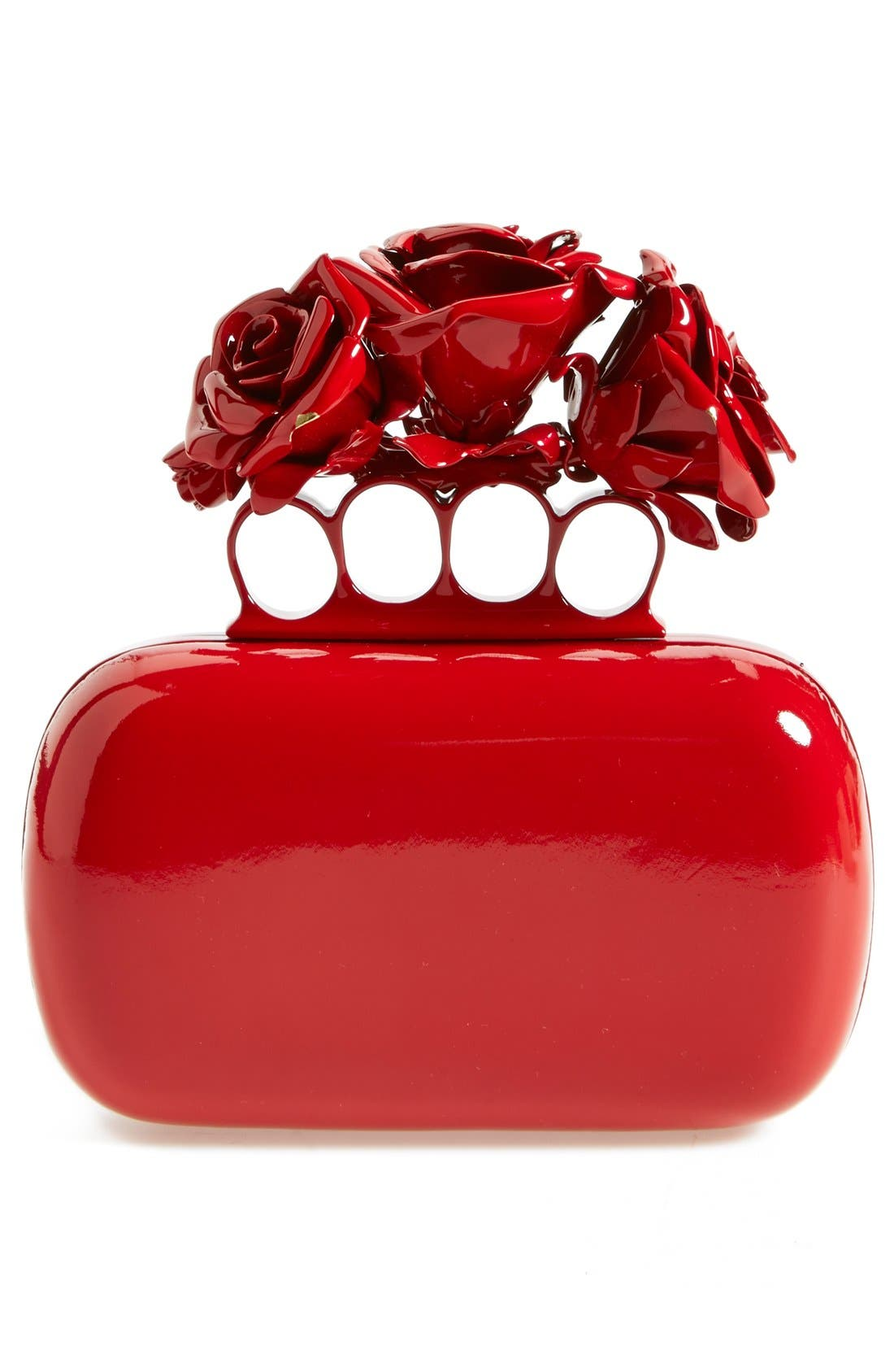 Alternate Image 2  - Alexander McQueen 'Lacquered Rose' Knuckle Box Clutch