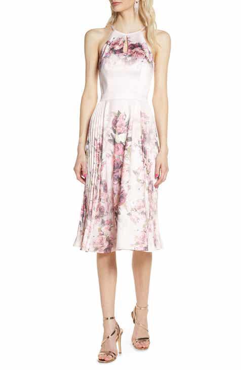Chi Chi London Raeane Floral Print Cocktail Dress