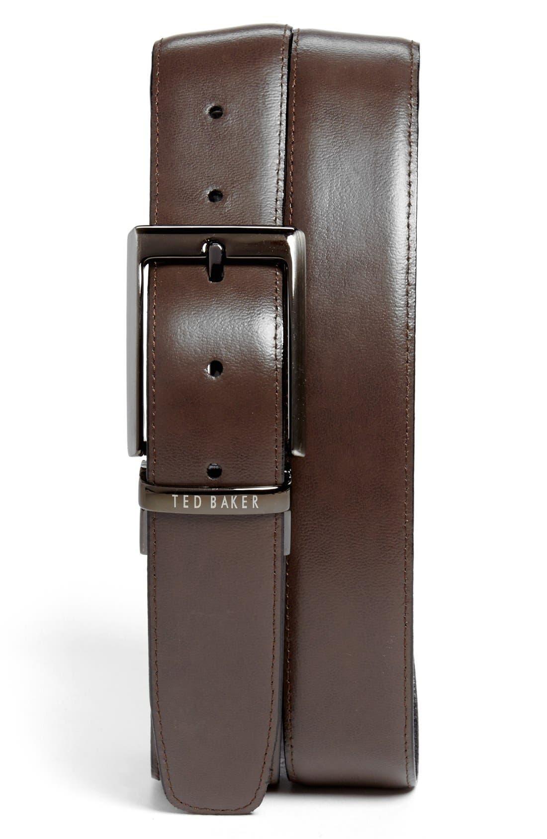Alternate Image 2  - Ted Baker London Stitched Reversible Belt