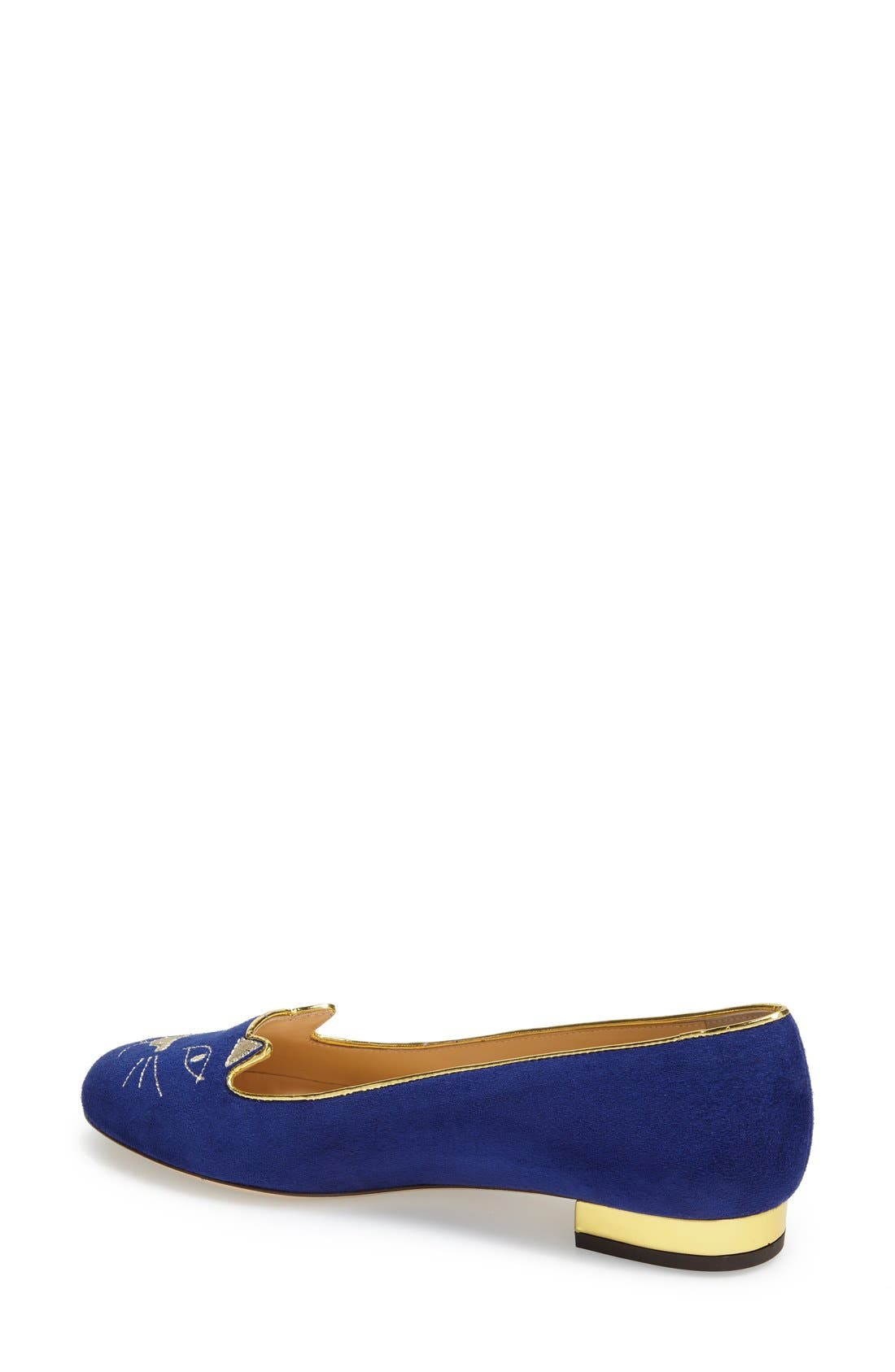 Alternate Image 2  - Charlotte Olympia 'Kitty' Suede Flat (Nordstrom Exclusive)
