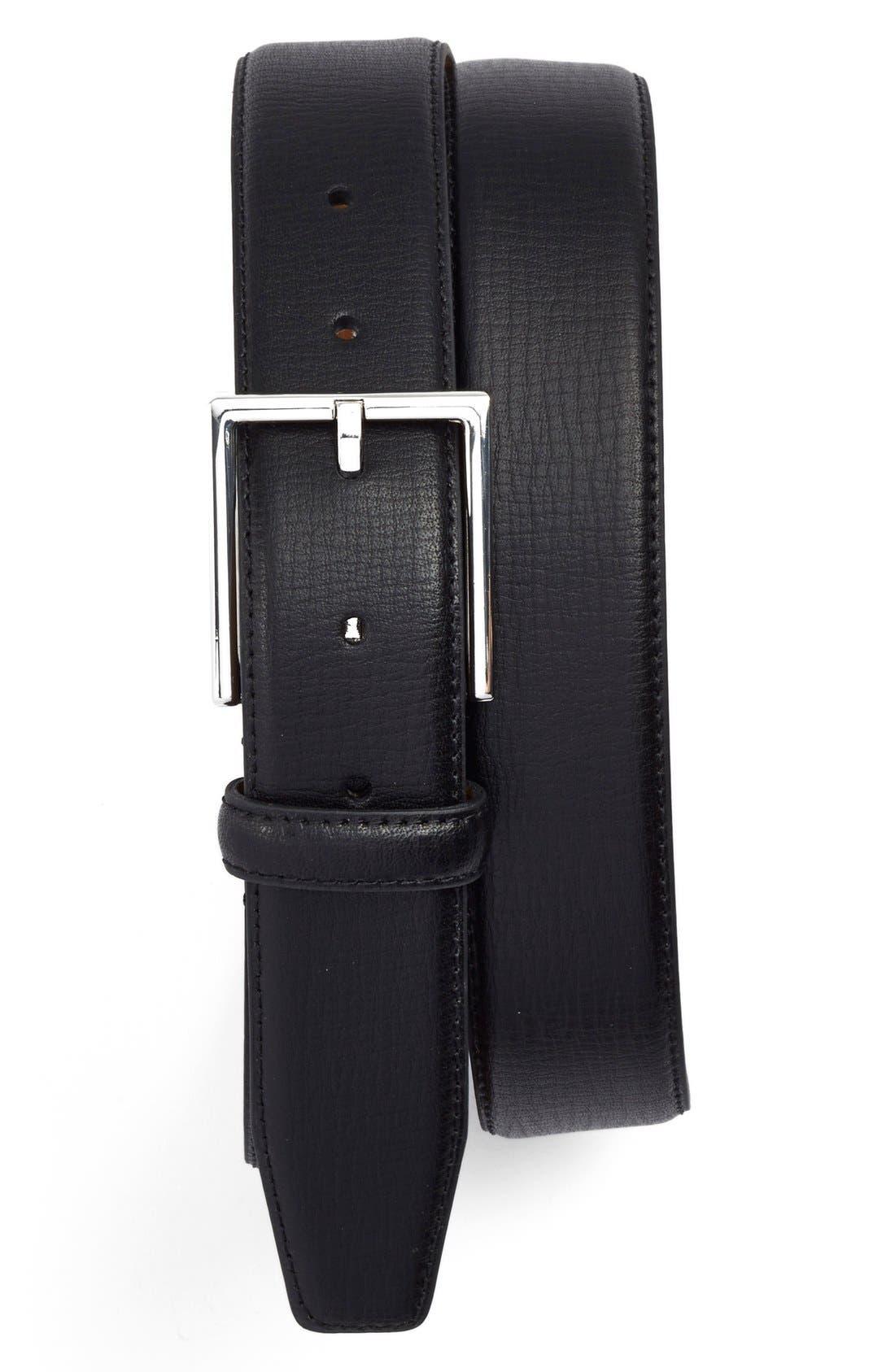 Main Image - Nordstrom Men's Shop Leather Belt
