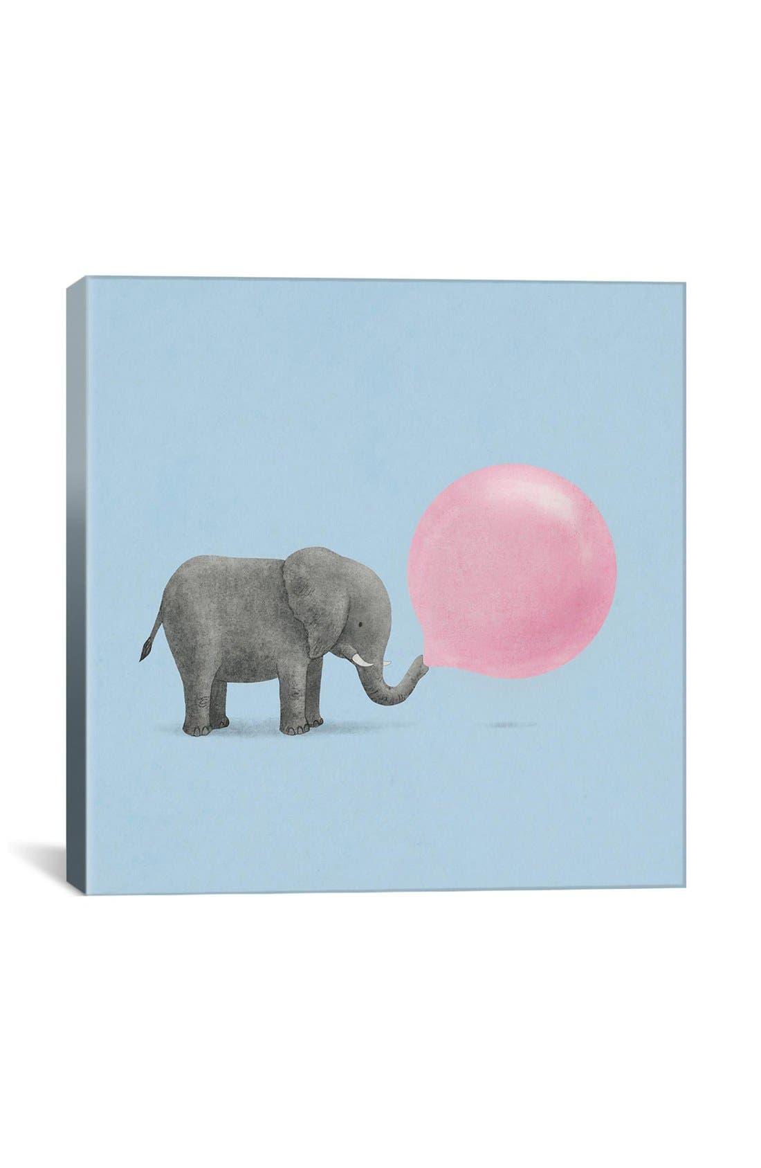 Main Image - iCanvas 'Jumbo Bubble Gum Blue Square - Terry Fan' Giclée Print Canvas Art