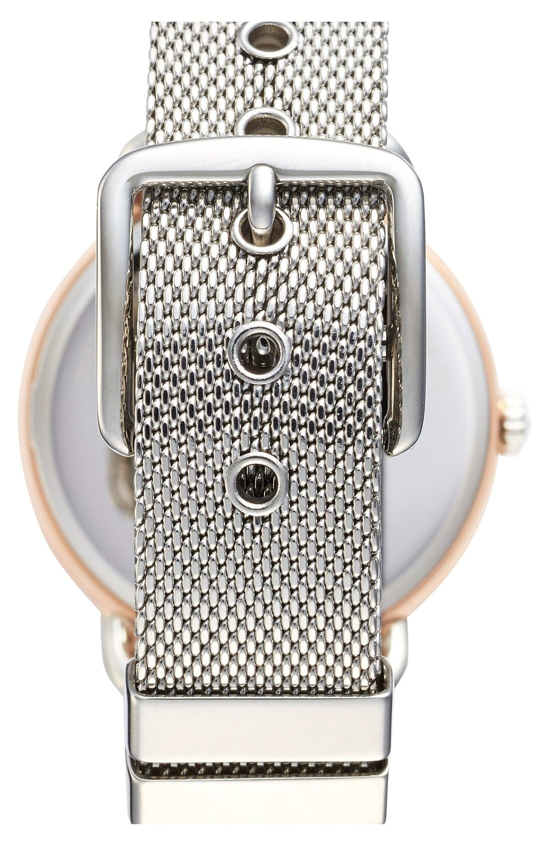 'Delancey' Round Watch, 36mm,                             Alternate thumbnail 2, color,                             Silver/ Rose Gold