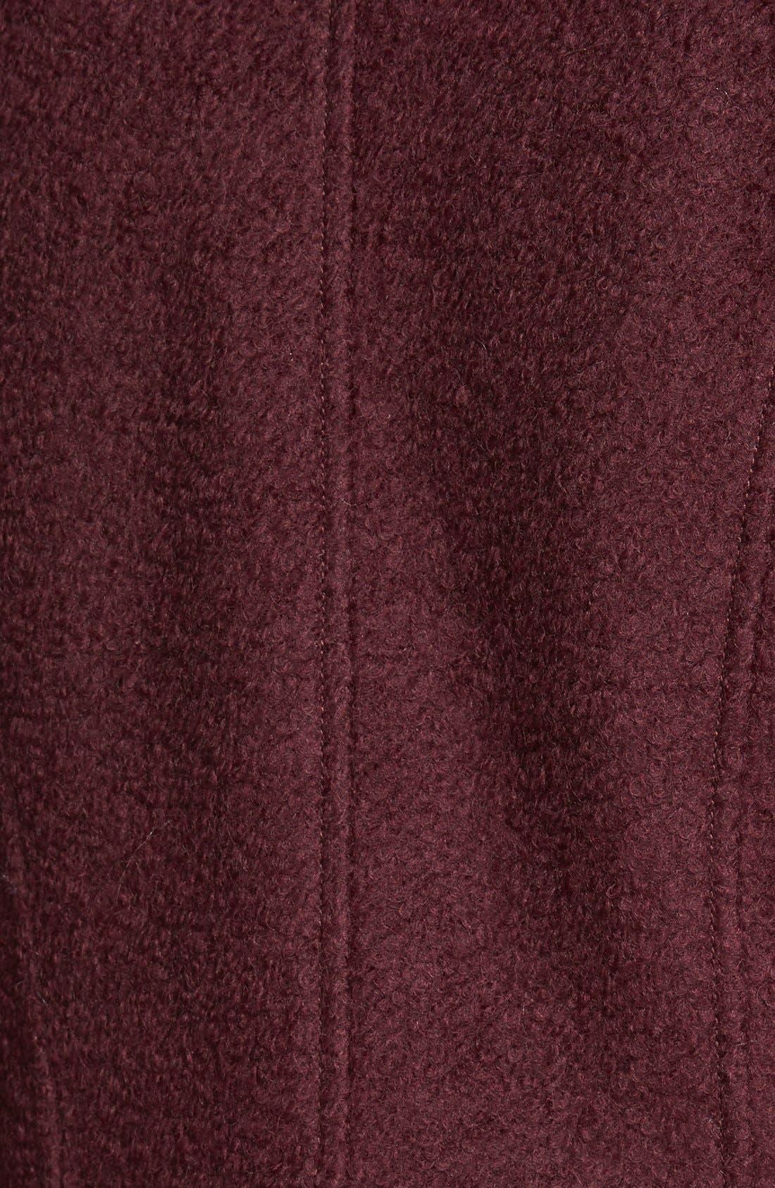 Alternate Image 3  - GUESS Double Breasted Bouclé Cutaway Coat (Regular & Petite)