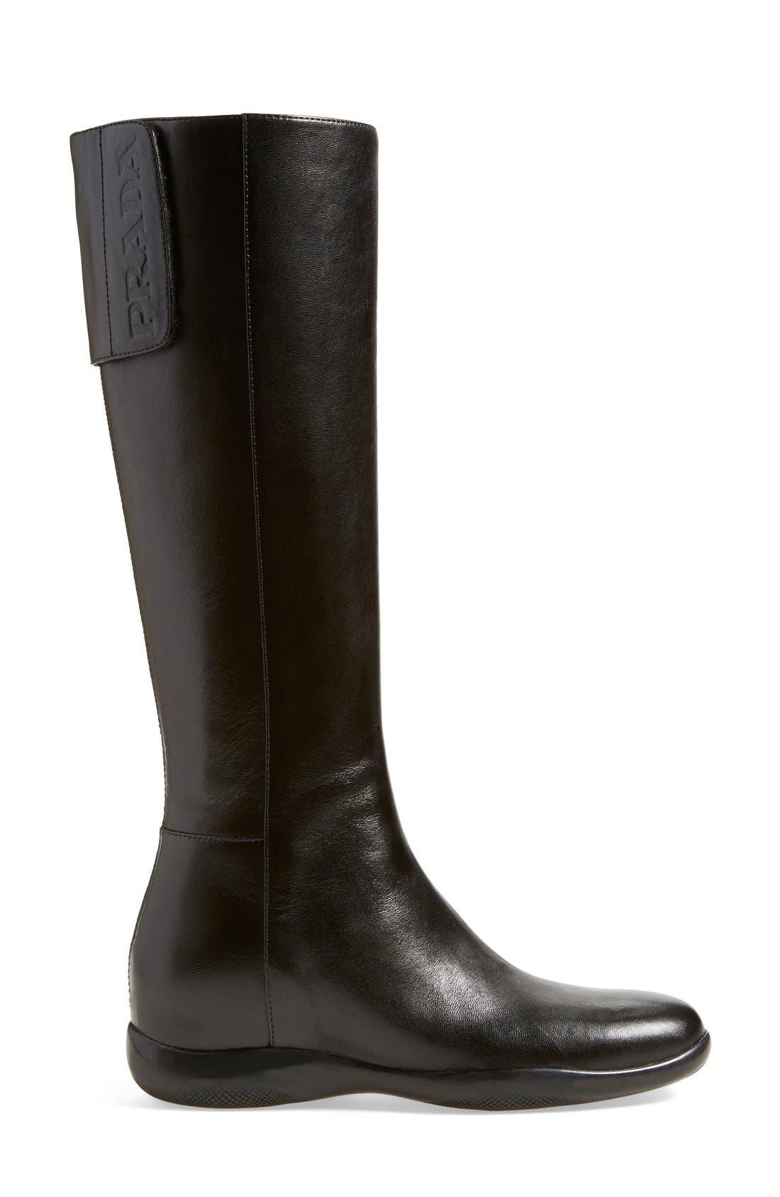 Alternate Image 2  - Prada Leather Tall Boot