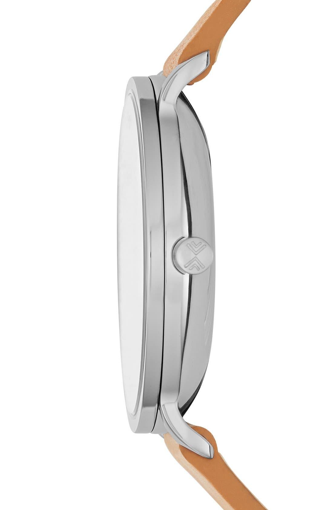 Alternate Image 2  - Skagen Hagen Leather Strap Watch, 40mm