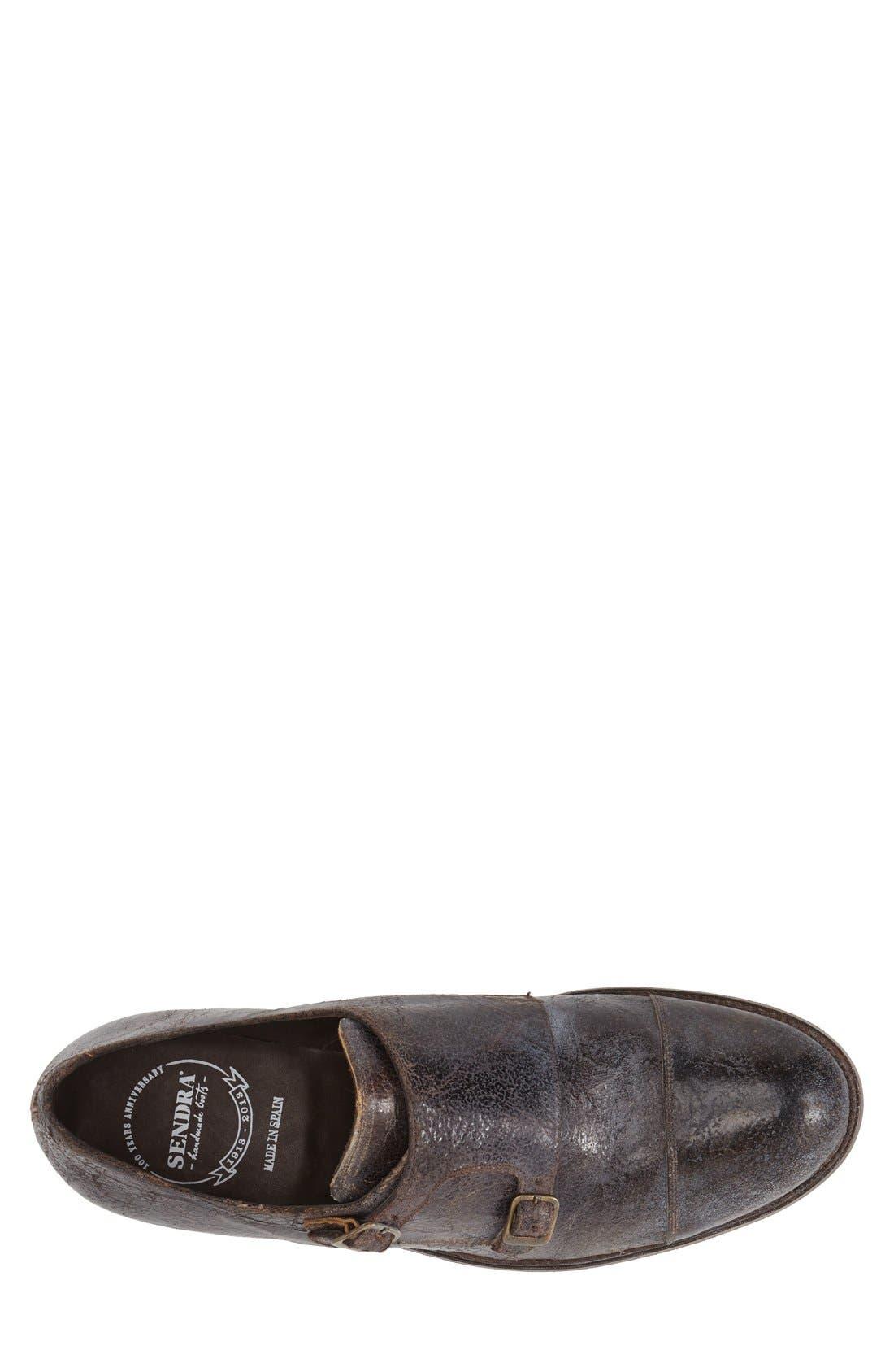 Boots 'Friar Tuk' Double Monk Strap Shoe,                             Alternate thumbnail 3, color,                             Brown Vintage