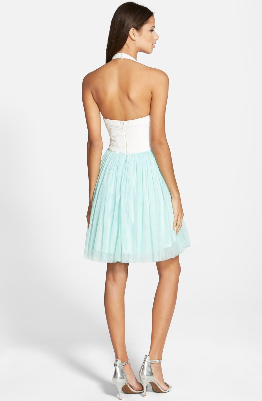 Alternate Image 2  - a. drea Beaded Halter Dress