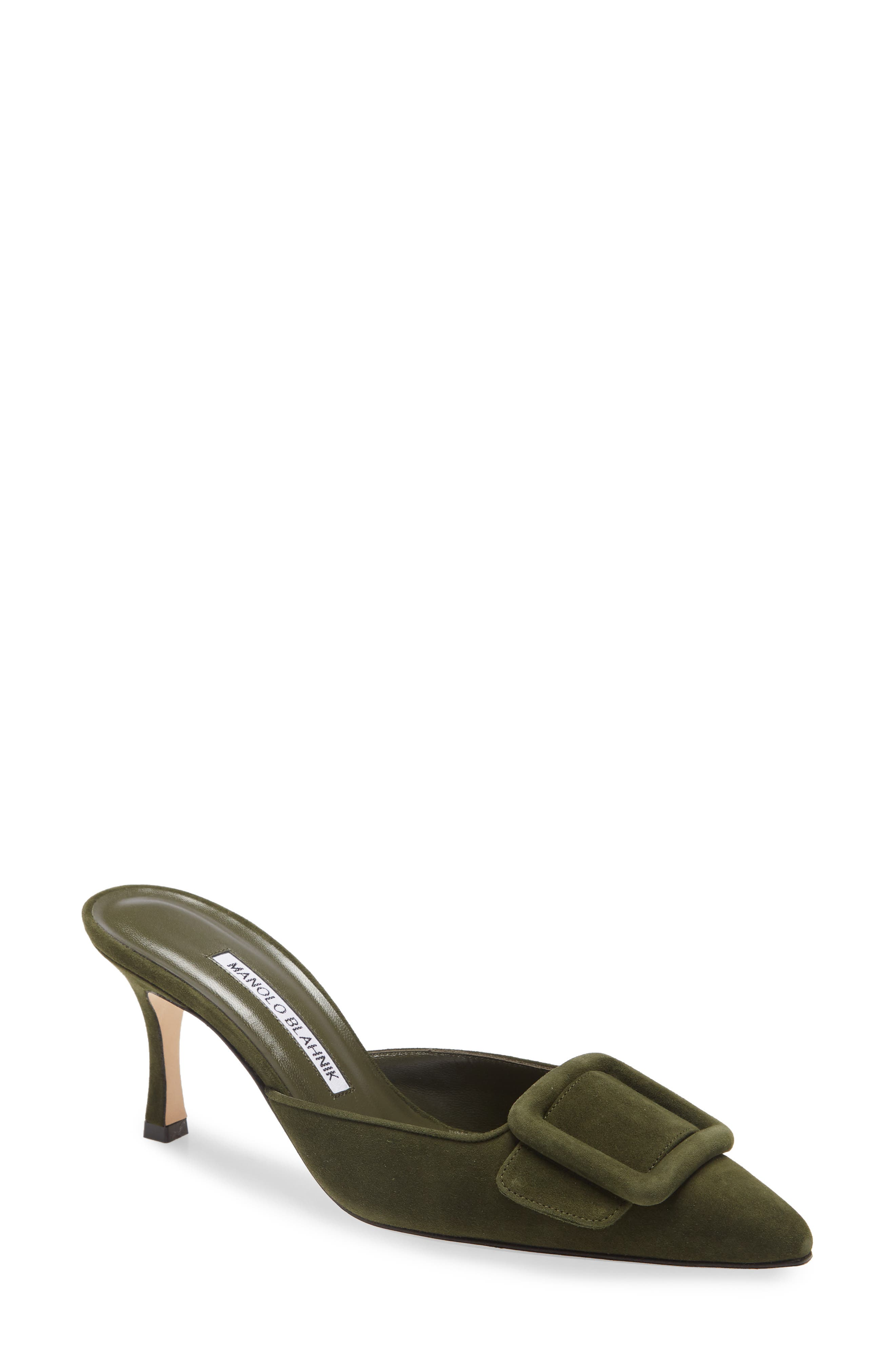 Green Designer Sandals for Women