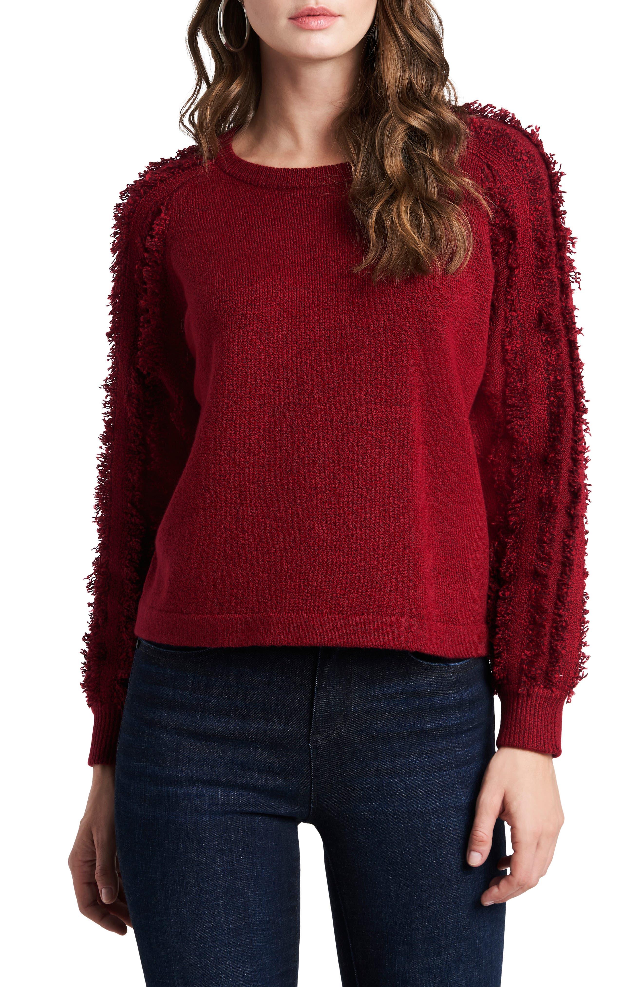 Madewell XXL Top Long Sleeve Puff-Sleeve Knit Scoop Neck Cumin Soft Ribbed Cuff