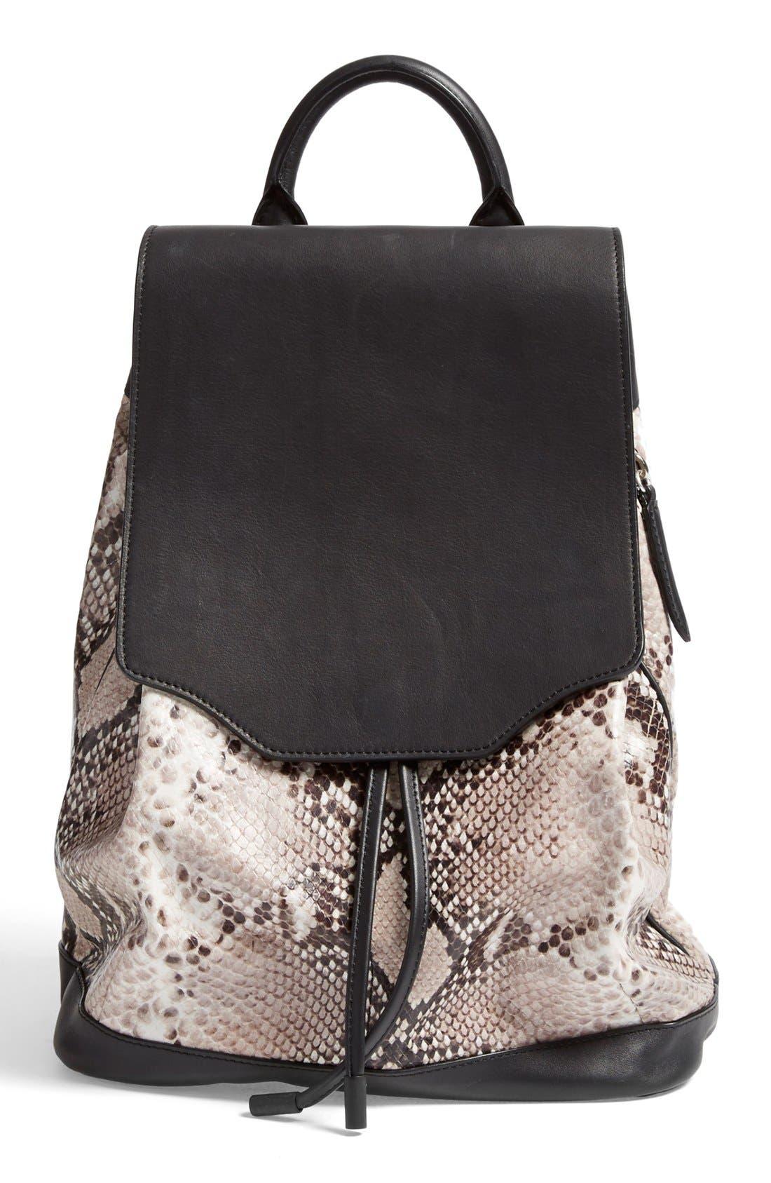 Alternate Image 1 Selected - rag & bone 'Pilot' Snake Embossed Leather Backpack