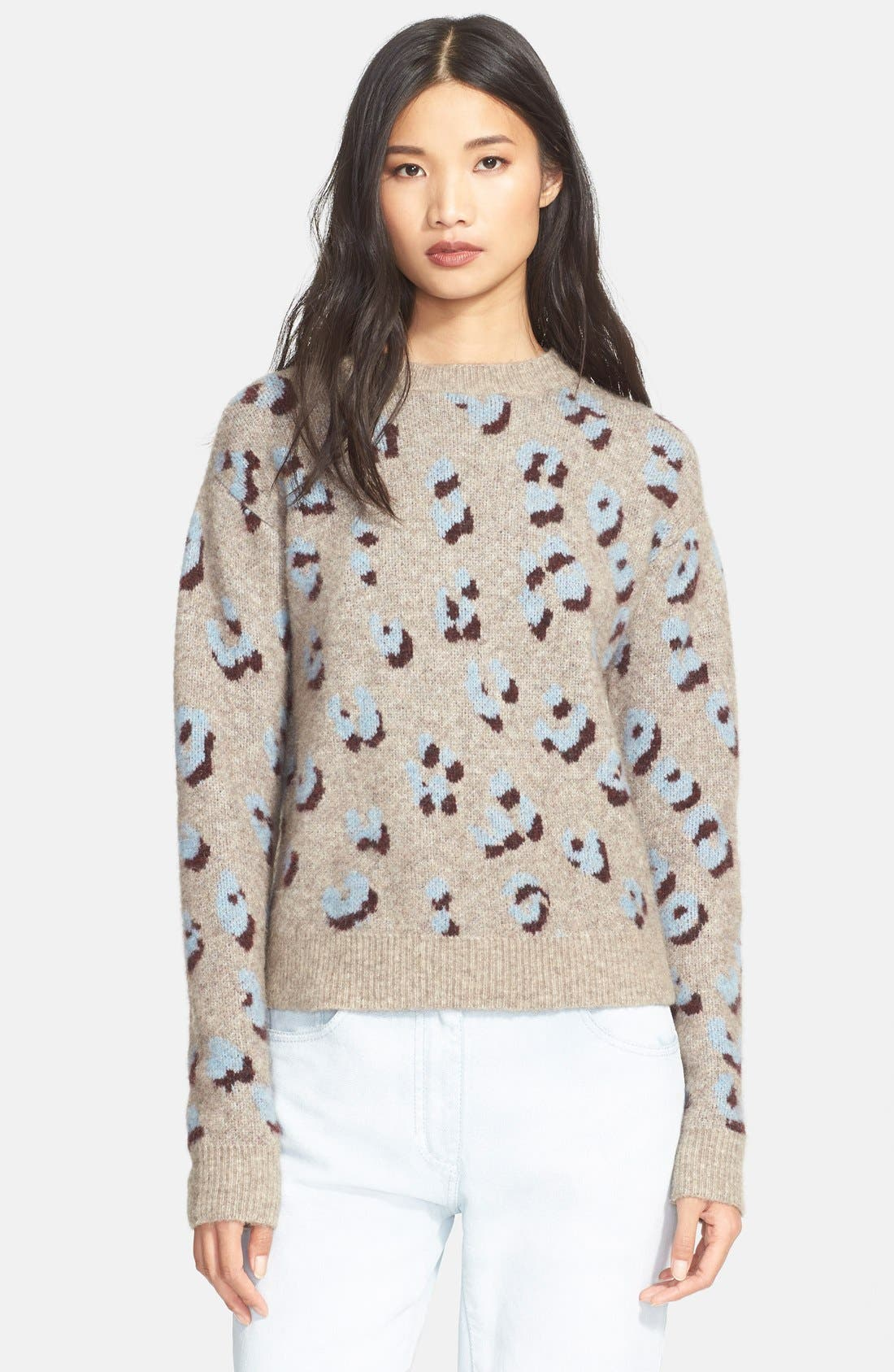 Alternate Image 1 Selected - 3.1 Phillip Lim Leopard Jacquard Sweater