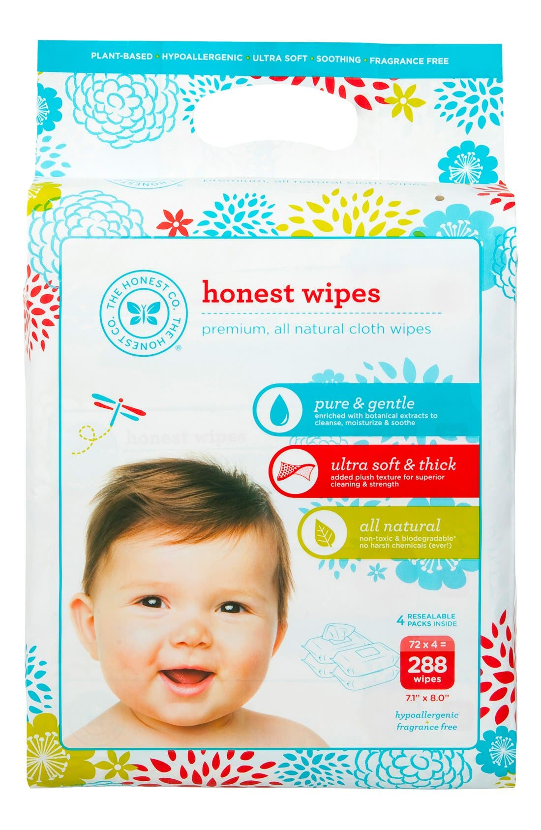 The Honest Company Cloth Baby Wipes (4-Pack)
