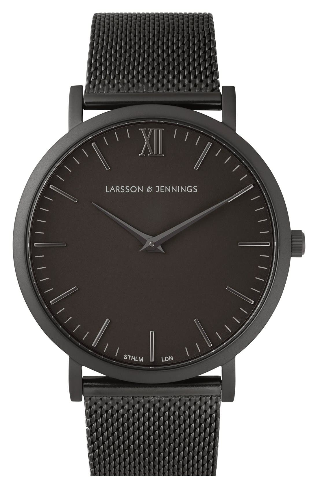 LARSSON & JENNINGS Lugano Mesh Strap Watch, 40mm
