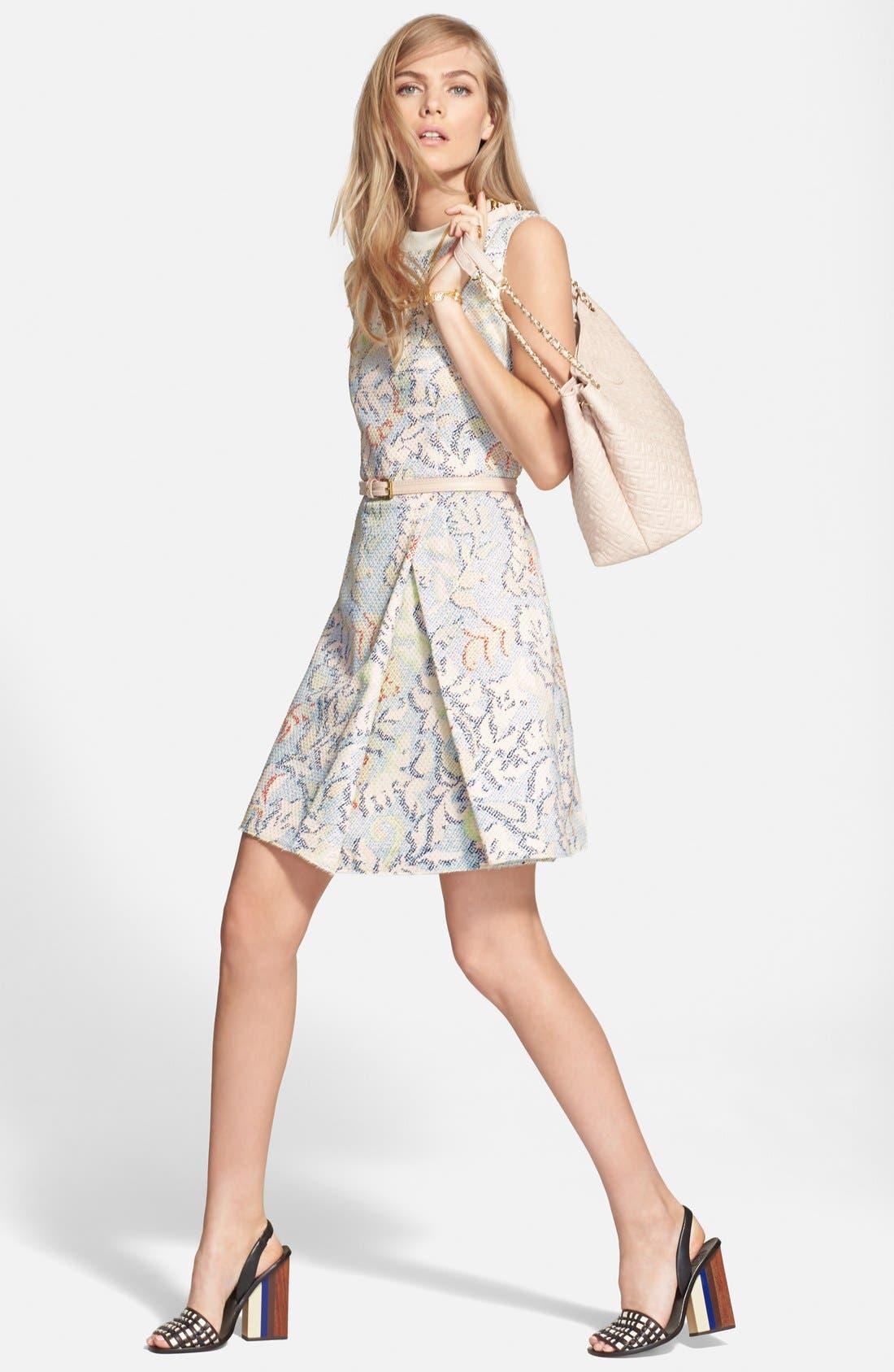 Alternate Image 4  - Tory Burch Stretch Jacquard Fit & Flare Dress