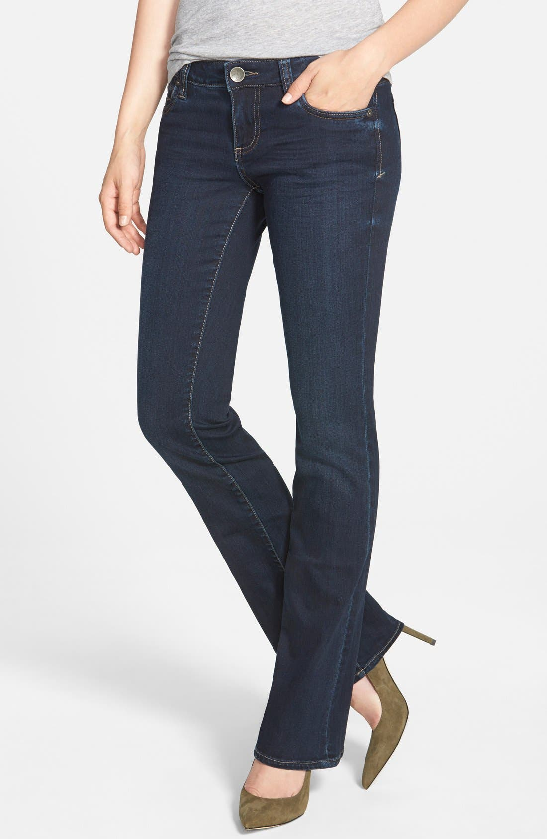 'Natalie' Stretch Bootcut Jeans,                         Main,                         color, Beneficial