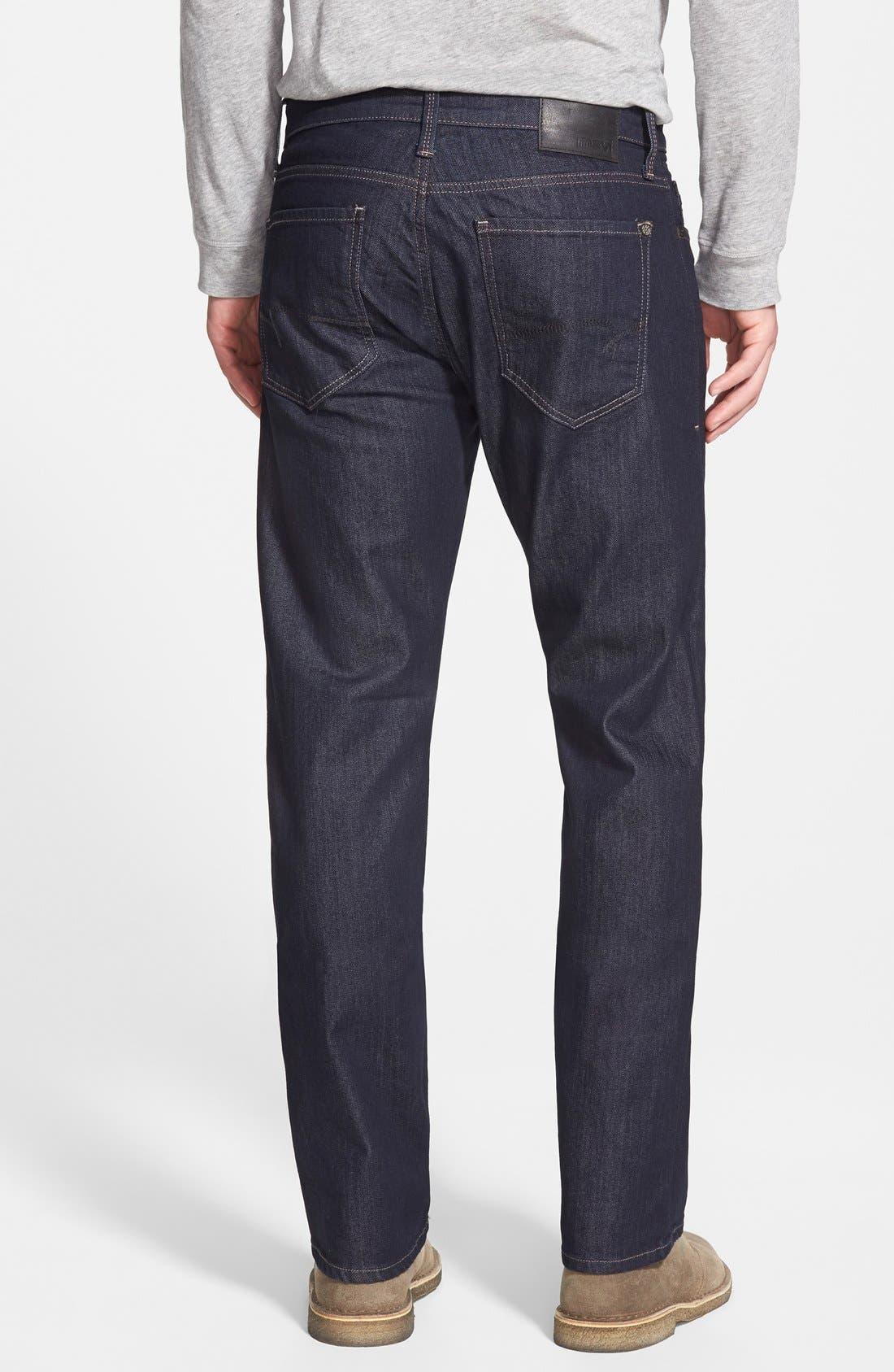 Alternate Image 2  - Mavi Jeans Zach Straight Leg Jeans (Rinse Williamsburg) (Regular & Tall)