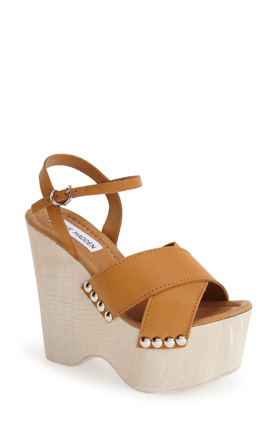 Alternate Image 1 Selected - Steve Madden 'Lylia' Wedge Sandal (Women)